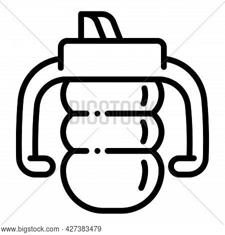Toddler Sippy Cup Icon. Outline Toddler Sippy Cup Vector Icon For Web Design Isolated On White Backg