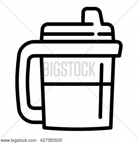 Drink Sippy Cup Icon. Outline Drink Sippy Cup Vector Icon For Web Design Isolated On White Backgroun