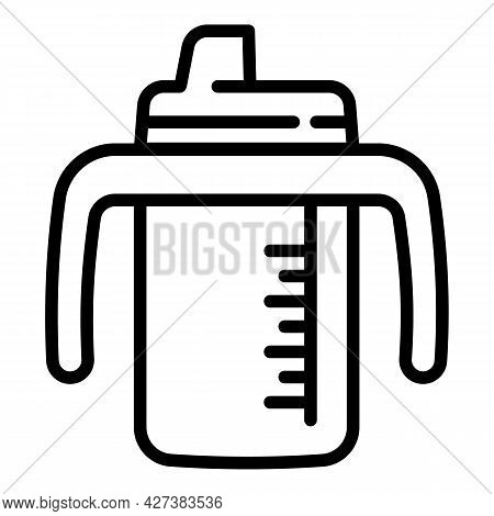 Infant Sippy Cup Icon. Outline Infant Sippy Cup Vector Icon For Web Design Isolated On White Backgro