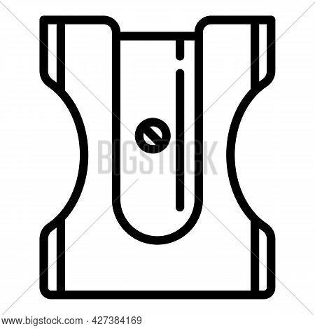 School Sharpener Icon. Outline School Sharpener Vector Icon For Web Design Isolated On White Backgro