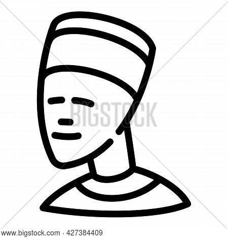 Egypt Bust Icon. Outline Egypt Bust Vector Icon For Web Design Isolated On White Background