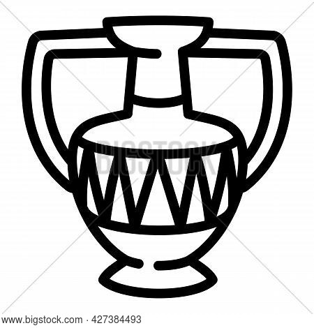 Antique Jar Icon. Outline Antique Jar Vector Icon For Web Design Isolated On White Background