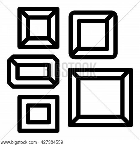 Art Gallery Museum Icon. Outline Art Gallery Museum Vector Icon For Web Design Isolated On White Bac