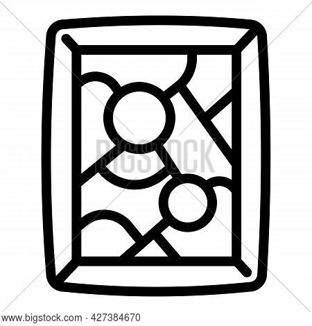 Art Gallery Picture Icon. Outline Art Gallery Picture Vector Icon For Web Design Isolated On White B