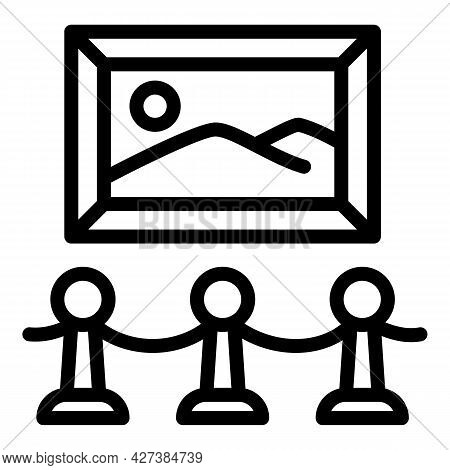 Art Exhibition Icon. Outline Art Exhibition Vector Icon For Web Design Isolated On White Background