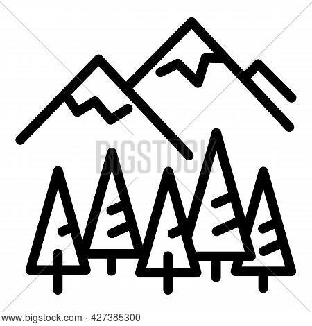 Ski Resort Camp Icon. Outline Ski Resort Camp Vector Icon For Web Design Isolated On White Backgroun