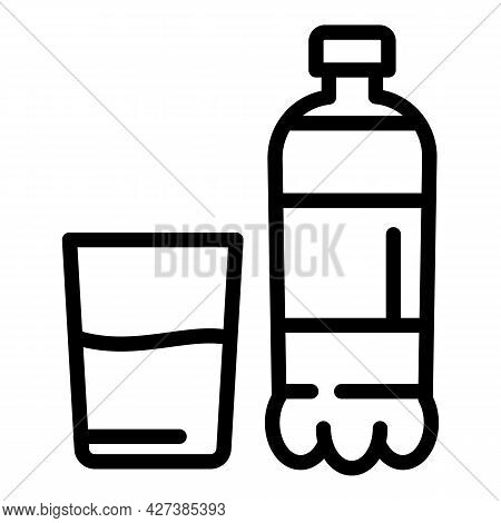 Flu Water Bottle Icon. Outline Flu Water Bottle Vector Icon For Web Design Isolated On White Backgro