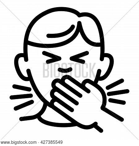 Flu Sneeze Icon. Outline Flu Sneeze Vector Icon For Web Design Isolated On White Background