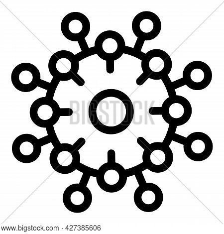 Flu Virus Icon. Outline Flu Virus Vector Icon For Web Design Isolated On White Background