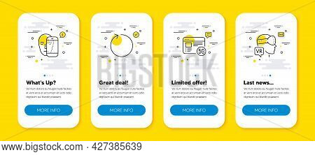 Vector Set Of Loop, 5g Internet And Face Biometrics Line Icons Set. Ui Phone App Screens With Line I