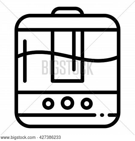 Home Humidifier Icon. Outline Home Humidifier Vector Icon For Web Design Isolated On White Backgroun