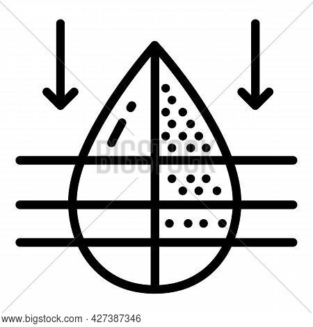 Water Filter Fresh Drop Icon. Outline Water Filter Fresh Drop Vector Icon For Web Design Isolated On