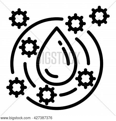 Water Filter Antibacterial Icon. Outline Water Filter Antibacterial Vector Icon For Web Design Isola