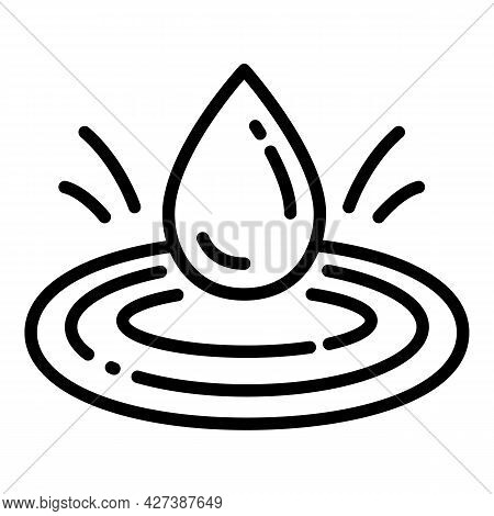 Water Filter Drop Icon. Outline Water Filter Drop Vector Icon For Web Design Isolated On White Backg