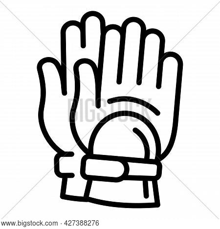 Diving Gloves Icon. Outline Diving Gloves Vector Icon For Web Design Isolated On White Background