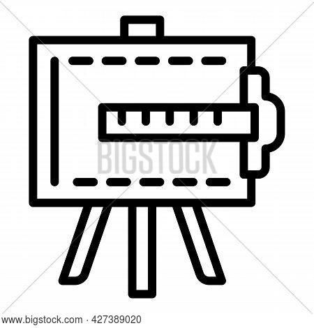 Architect Easel Icon. Outline Architect Easel Vector Icon For Web Design Isolated On White Backgroun