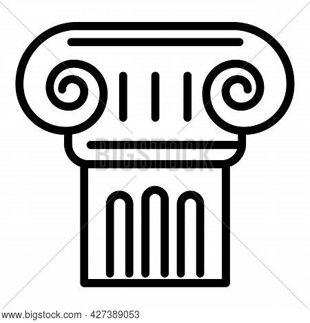 Old Greek Column Icon. Outline Old Greek Column Vector Icon For Web Design Isolated On White Backgro