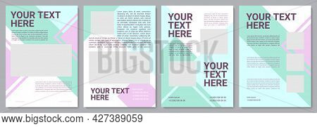 Target Audience Information Brochure Template. Flyer, Booklet, Leaflet Print, Cover Design With Copy