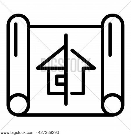 House Village Plan Icon. Outline House Village Plan Vector Icon For Web Design Isolated On White Bac