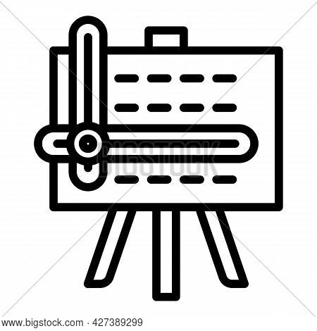 Home Architect Board Icon. Outline Home Architect Board Vector Icon For Web Design Isolated On White