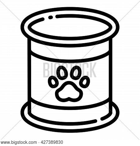 Pet Tin Can Icon. Outline Pet Tin Can Vector Icon For Web Design Isolated On White Background