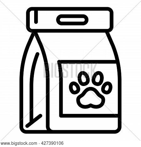 Pet Food Pack Icon. Outline Pet Food Pack Vector Icon For Web Design Isolated On White Background