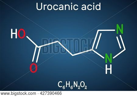 Urocanic Acid Molecule. It Is Intermediate Product In The Metabolism Of Histidine. Structural Chemic