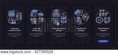 Job Training Funding Onboarding Mobile App Page Screen. Financial Aid Package Walkthrough 5 Steps Gr