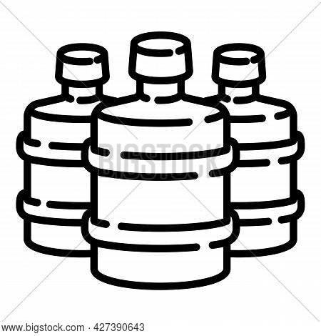 Empty Cooler Water Bottles Icon. Outline Empty Cooler Water Bottles Vector Icon For Web Design Isola