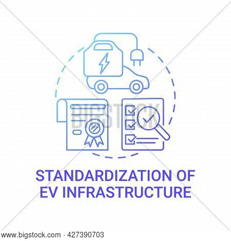 Ev Infrastructure Concept Icon. Hybrid Charging Stations Accessibility Abstract Idea Thin Line Illus