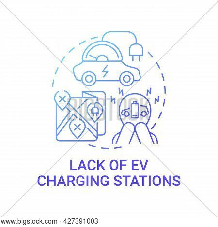 Charging Stations Eco-friendly Car Lack Concept Icon. Evs Special Hardware Installation Abstract Ide