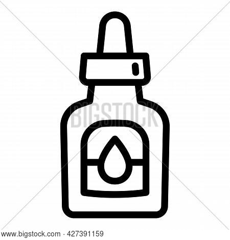 Drop Bottle Contact Lens Icon. Outline Drop Bottle Contact Lens Vector Icon For Web Design Isolated
