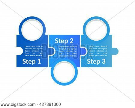 Blue Instructional Vector Infographic Template. Company Journey Presentation Design Elements With Te