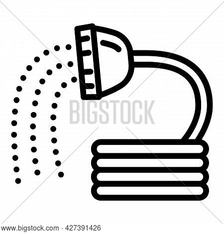Irrigation Shower Hose Icon. Outline Irrigation Shower Hose Vector Icon For Web Design Isolated On W