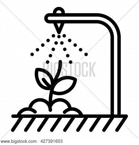 Smart Irrigation Icon. Outline Smart Irrigation Vector Icon For Web Design Isolated On White Backgro