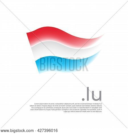 Luxembourg Flag. Stripes Colors Of The Luxembourgish Flag On A White Background. Vector Design Natio