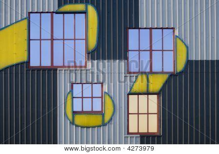 Window and facade artistically arranged of the artist Friedensreich Hundertwasser poster