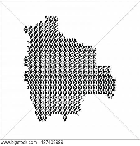 Bolivia Country Map Made With Bitcoin Crypto Currency Logo