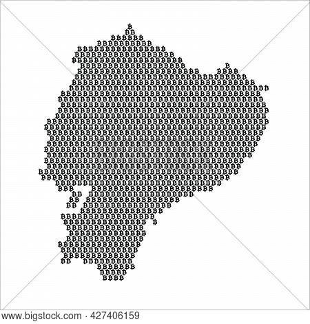 Ecuador Country Map Made With Bitcoin Crypto Currency Logo