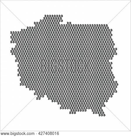 Poland Country Map Made With Bitcoin Crypto Currency Logo