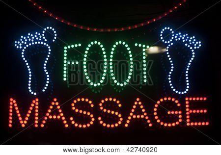 foot massage neon sign