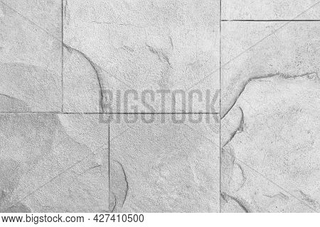 White Cladding Stone House Exterior Floor Tiles Texture And Background Seamless