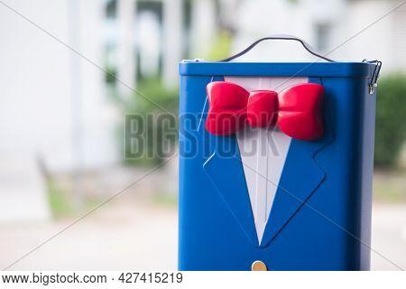 Samut Prakan, Thailand - July 21, 2021: Box Of Popcorn Buckets From The Movie Of Detective Conan - T