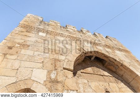 The Outer Wall Of The Tower Of David - Ancient Citadel And City History Museum Near The Jaffa Gate I