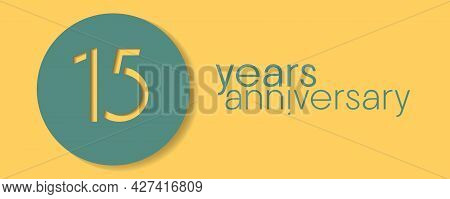 15 Years Anniversary Vector Icon, Logo. Design Element With Graphic Style Number