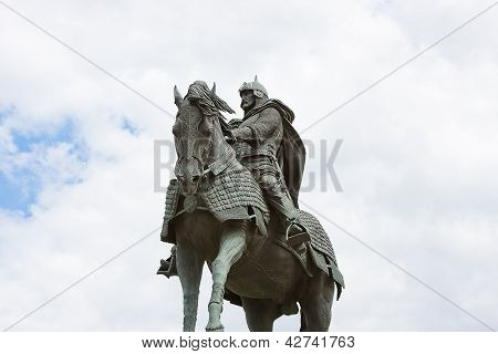 Monument to the Grand duke to Dmitry Don city Kolomna Moscow area Russia poster