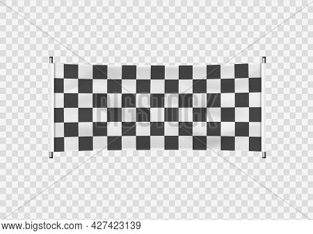 Checkered Banner Starting Finishing Sports A Flag