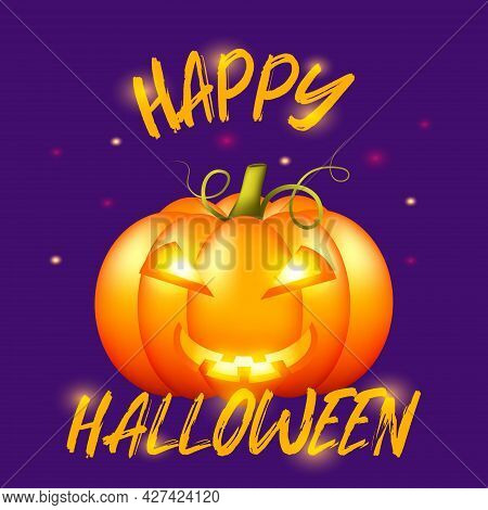 Halloween Poster. Greeting Card Text Template.invitation With Halloween Poster For Celebration Desig