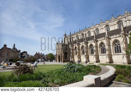 Views Of Gloucester Cathedral And Gardens In Gloucester In The United Kingdom, Taken On The 24th Apr