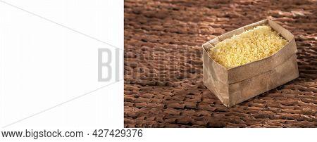 Japanese Panko Bread In Crumbs In The Paper Bag